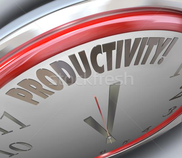 Produtividade relógio crescimento eficiência mais Foto stock © iqoncept