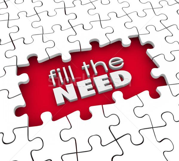 Szükség vásárló termék szolgáltatás marketing szavak Stock fotó © iqoncept