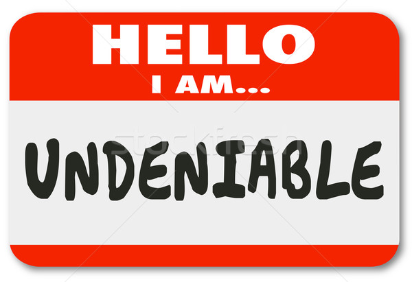Undeniable Essential Person Nametag Sticker Valuable Worker Empl Stock photo © iqoncept