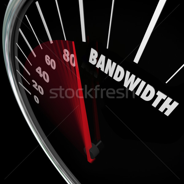 Bandwidth Speedometer Limited Resources Traffic Communication Stock photo © iqoncept