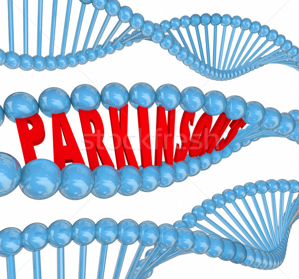 Parkinsons Disease Nervous System Neurological Disorder DNA Word Stock photo © iqoncept