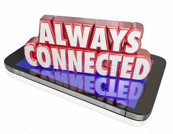постоянно новых мобильных Smart сотового телефона сеть Сток-фото © iqoncept