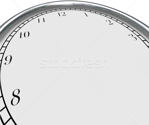 Clock Background Time Concept Blank Copy Space Your Message Stock photo © iqoncept