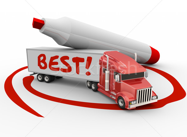 Best Truck Carrier Transportation Company Red Marker Circled Stock photo © iqoncept