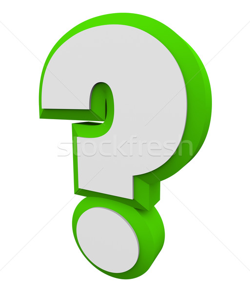 3d Question Mark Green Asking Inquiry Get Find Answers Informati Stock photo © iqoncept
