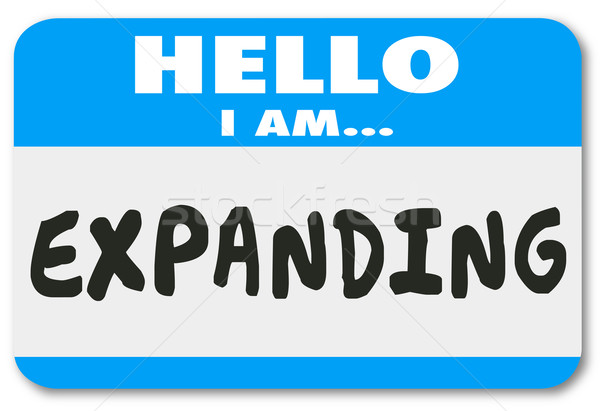 Hello I Am Exampanding Growth Increased Success Nametag Sticker Stock photo © iqoncept