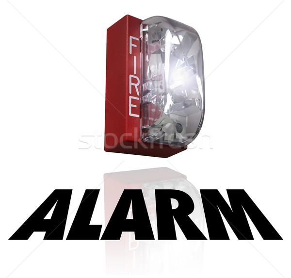 Fire Alarm Word Emergency Crisis Evacuation Stock photo © iqoncept