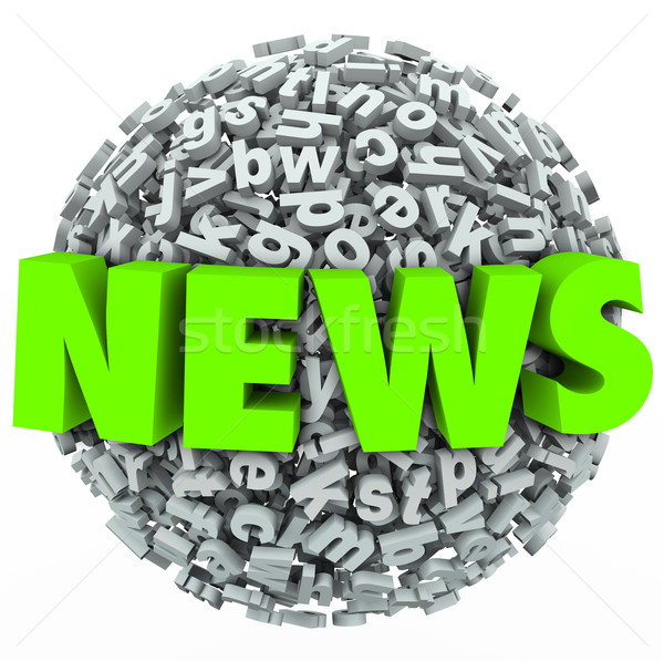 News Letter Sphere Important Report Alert Update Stock photo © iqoncept
