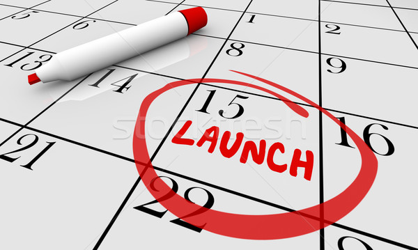 Launch Product New Business Calendar Day Date Circled 3d Illustr Stock photo © iqoncept