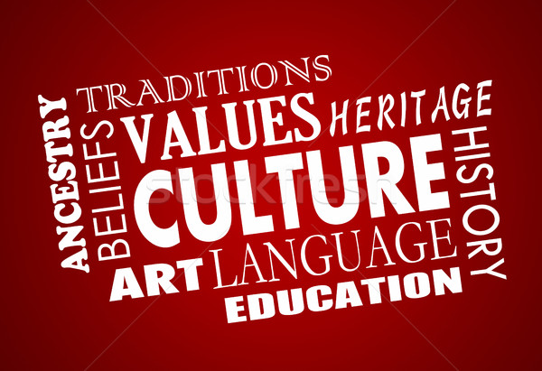 Culture Heritage Diversity Language Word Collage 3d Illustration Stock photo © iqoncept