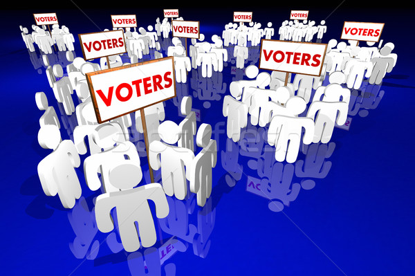 Voters People Groups Voting Election Politics 3d Illustration Stock photo © iqoncept