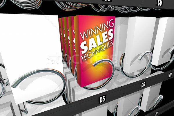 Nyerő eladó falatozó árusító automata 3d illusztráció doboz Stock fotó © iqoncept