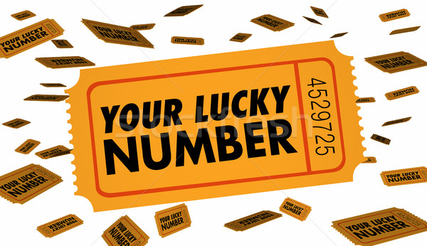 Your Lucky Number Winning Contest Raffle Ticket 3d Illustration Stock photo © iqoncept