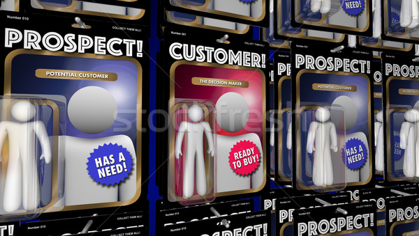 Customer Prospects Action Figures Find New Clients 3d Illustrati Stock photo © iqoncept