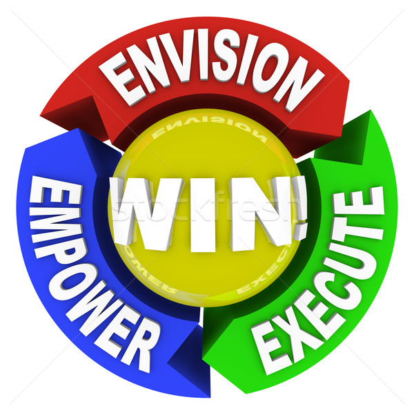 Envision Empower Execute - Win Stock photo © iqoncept