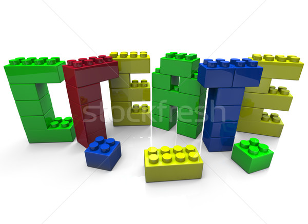 Create - Word Built in Toy Blocks Stock photo © iqoncept