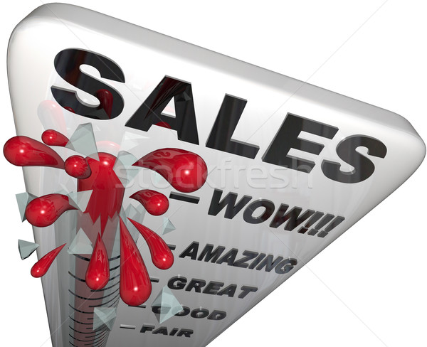 Sales - Thermometer Rising Past Great Levels Stock photo © iqoncept