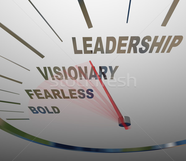 Leadership Speedometer Vision Fearless Bold Direction Stock photo © iqoncept
