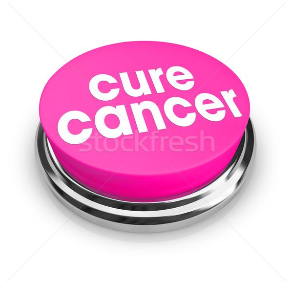 Genezen kanker roze knop woorden arts Stockfoto © iqoncept
