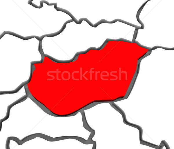 Hungary Country Abstract 3D Europe Continent Map Stock photo © iqoncept
