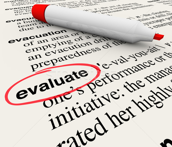 Evaluate Word Dictionary Definition Feedback Review Stock photo © iqoncept