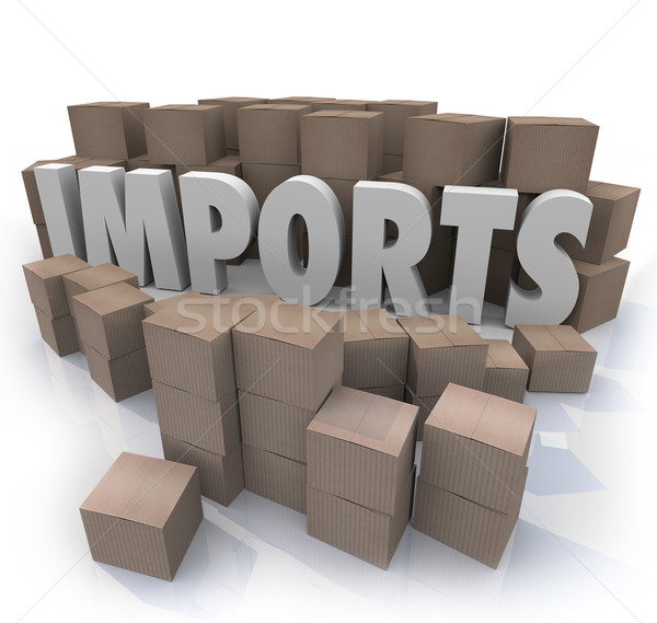 картона коробки международная торговля склад слово Сток-фото © iqoncept