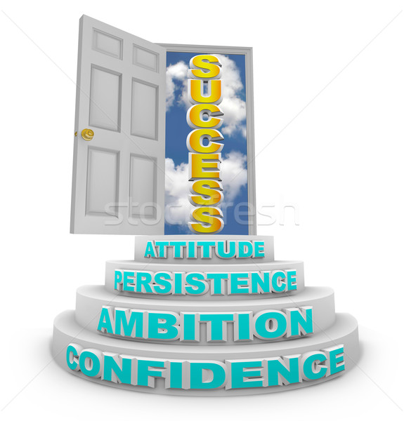 Steps Rising to Success - Open Door Stock photo © iqoncept