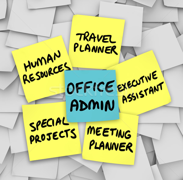 Office Administrator Job Duties Meeting Travel Planner Executive Stock photo © iqoncept
