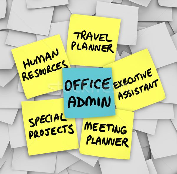 Oficina administrador Trabajo reunión viaje Foto stock © iqoncept