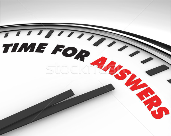 Time for Answers - Clock Stock photo © iqoncept