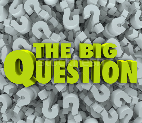 Big Question Words Question Mark Background Stock photo © iqoncept
