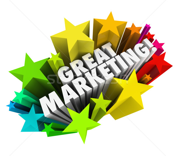 Great Marketing Words Business Advertising Promotion Stock photo © iqoncept