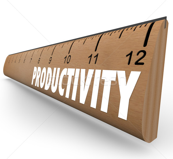 Stock photo: Productivity Measuring Ruler Working Efficiency Education Learni