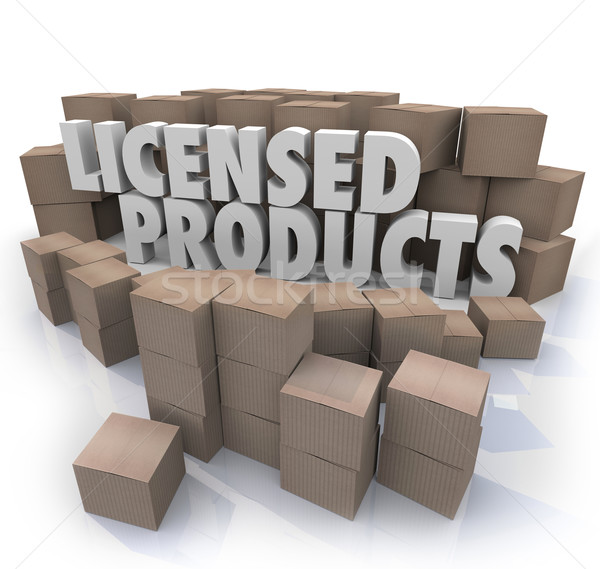 Licensed Products Official Original Authorized Merchandise Boxes Stock photo © iqoncept