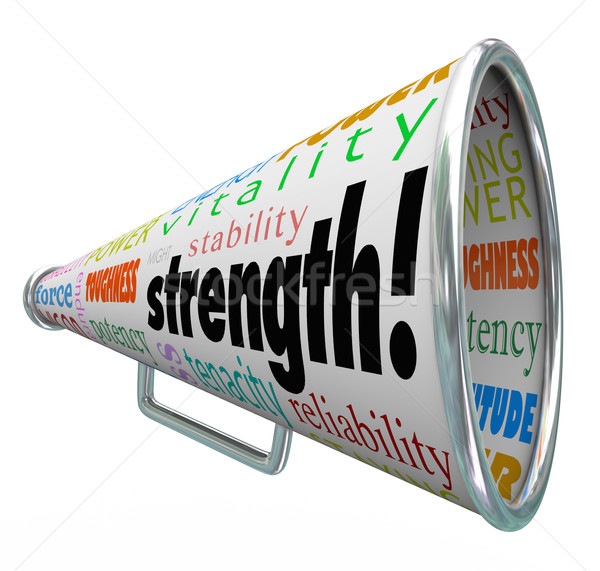 Strength Bullhorn Megaphone Message Competitive Advantage Winner Stock photo © iqoncept