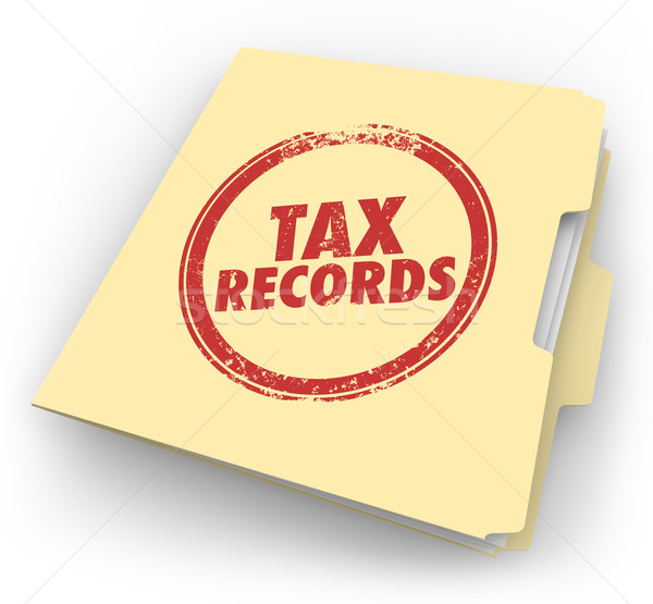 Tax Records Manila Folder Stamp Audit Documents FIle Stock photo © iqoncept