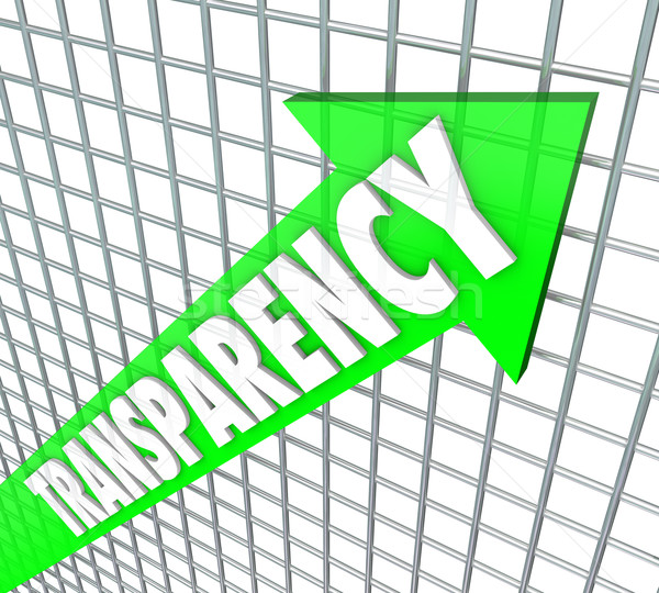 Transparency Arrow Openness Business Straightforward Message Stock photo © iqoncept