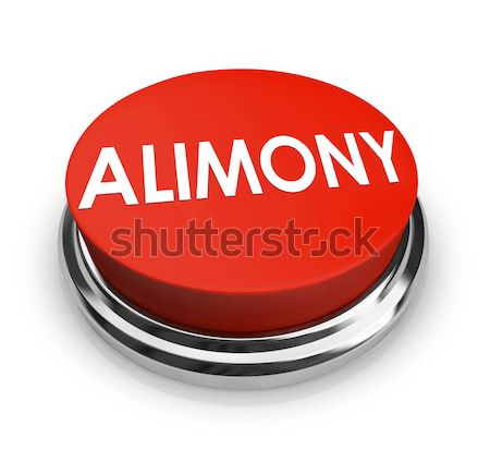 Alimony Word 3D Red Button Spousal Support Legal Help Stock photo © iqoncept