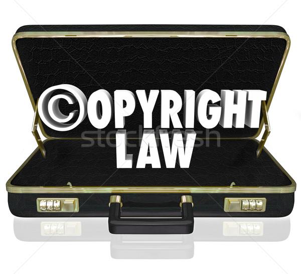 Diritto d'autore legge giuridica giudice caso Foto d'archivio © iqoncept