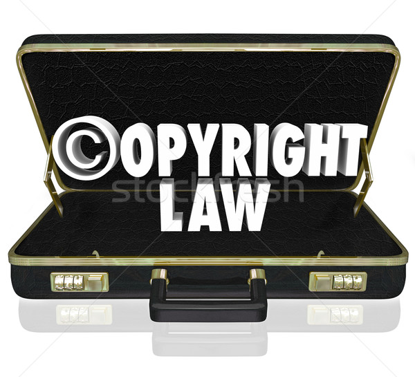 Direitos autorais lei legal tribunal caso advogado Foto stock © iqoncept
