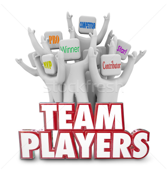 Team Players People Workers Staff Working Together Winners Succe Stock photo © iqoncept