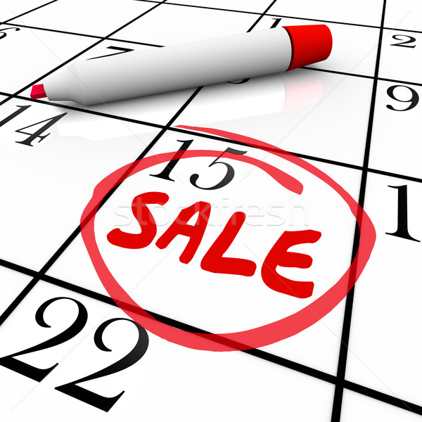 Sale Day Date Circled Calendar Deal Offer Clearance Store Event Stock photo © iqoncept