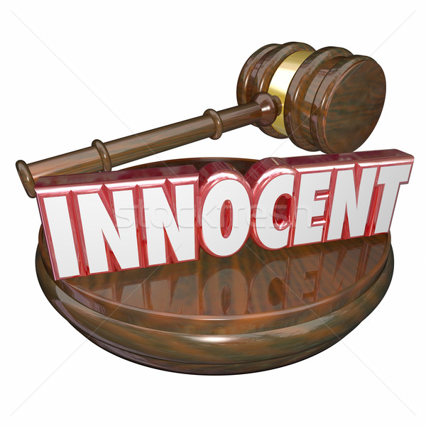 Innocent Not Guilty Judge Gavel Trial Verdict Acquital Stock photo © iqoncept