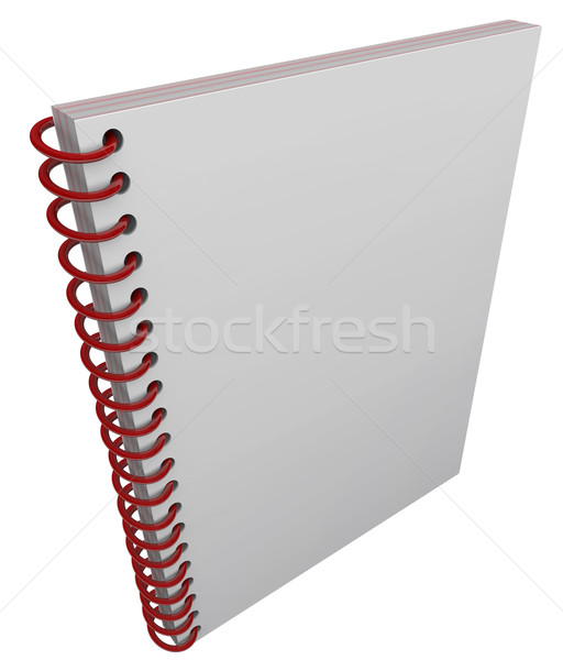 Spiral Bound Book Cover Notebook Journal Blank Copy Space Stock photo © iqoncept