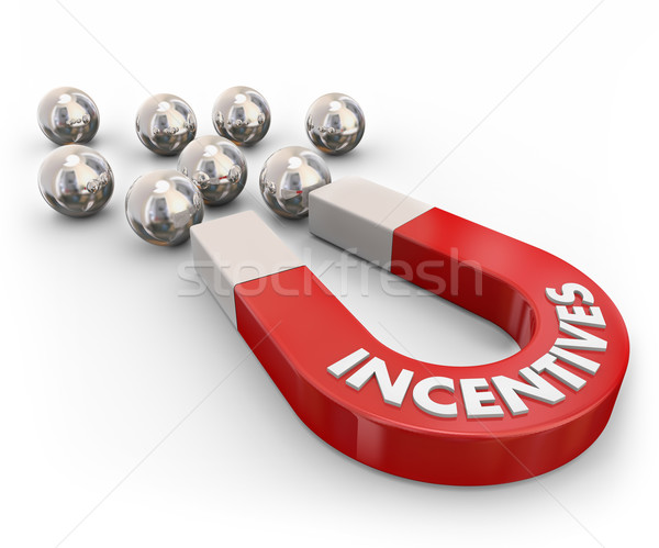 Incentives Marketing Magnet Attracting New Customers Stock photo © iqoncept