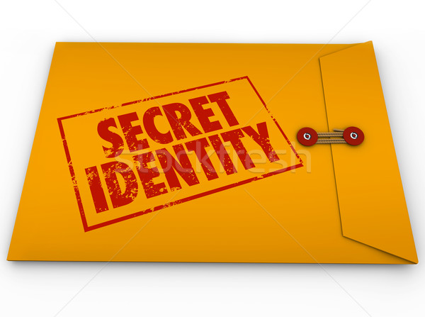 Secret Identity Classified Confidential Yellow Envelope Unknown  Stock photo © iqoncept