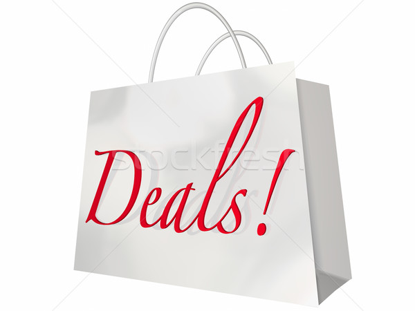 Deals Best Price Store Shopping Bag Discount Event Stock photo © iqoncept