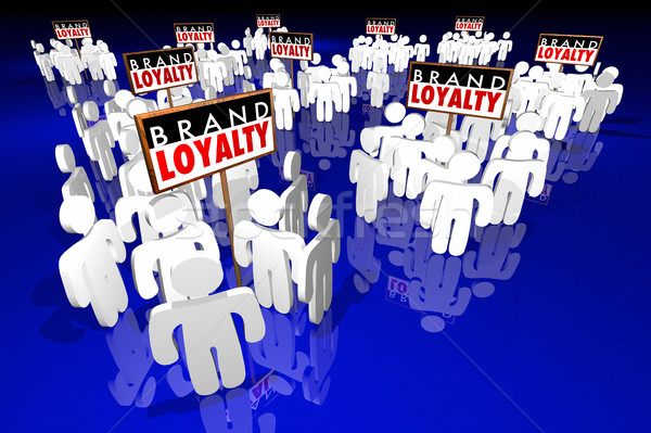 Brand Loyalty Customers Preference Buying Products 3d Illustrati Stock photo © iqoncept