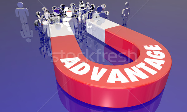 Advantage Competitive Edge Magnet Attracting More Customers 3d I Stock photo © iqoncept