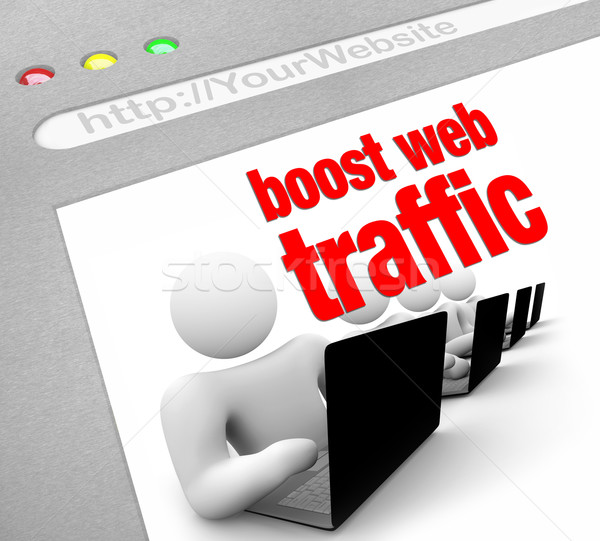 Boost Web Traffic - Internet Screen Shot Stock photo © iqoncept